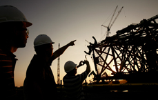 Silhouette Engineers Construction Industrial Photography