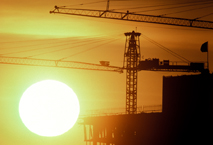 Construction Project Photography Sunrise Cranes