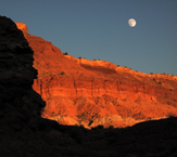 Moon Rise Landscape Photography Zion Canyon National Park Utah